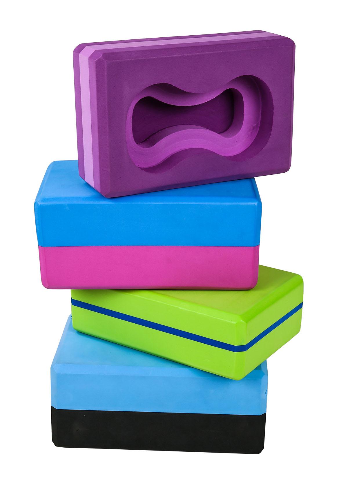 آجر بلوک فوم EVA ، بلوک های یوگا آجرهای کف باعث ایجاد ثبات و تعادل برای ورزش ، پیلاتس ، تمرین ، تناسب اندام ، سالن بدن سازی (3)