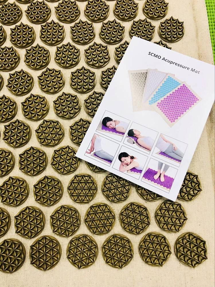 Natural-linen-Acupressure-MatYoga-Yantra-Foot-Shakti-Plastic-Spikes-Massage-Acupressure-mat-7