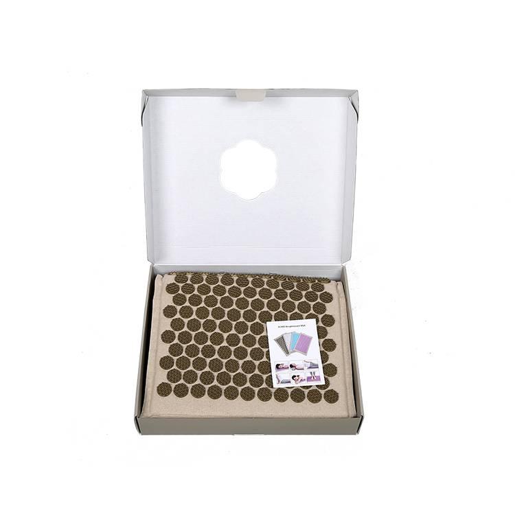Natural-linen-Acupressure-MatYoga-Yantra-Foot-Shakti-Plastic-Spikes-Massage-Acupressure-mat-9